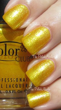 Color Club Daisy Does It Salon Bottle is yellow that matches Claire's starstruck polishes $5