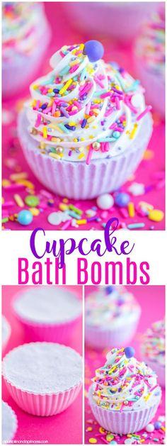 DIY Cupcake Bath Bom
