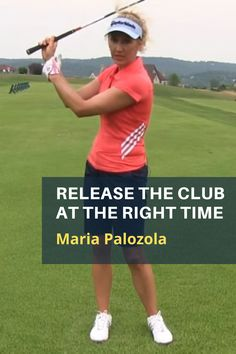 Release the Club at the Right TimeReleasing the club too soon results in loss of power and control. Maria Palozola's Move the Angles drill will help you release the clubhead right at the moment of impact. #golf #golftip #golfswing #golflessons #womensgolf Golf Books, Golf Range, Angle Drill, Right Time, Best Golf Courses, Golf Instruction, Shoulder Muscles, Golf Channel, Big Muscles