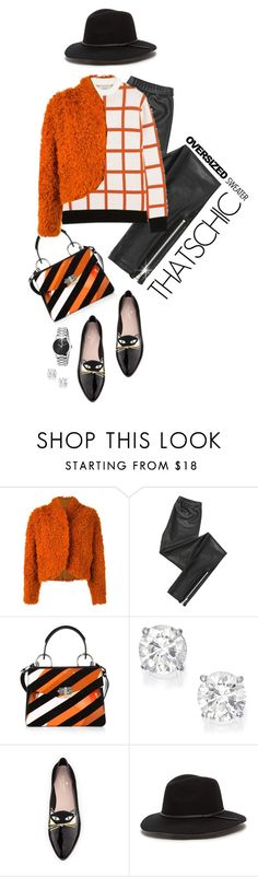 """""""CHIC OVERSIZED SWEATER"""" by shortyluv718 ❤ liked on Polyvore featuring Kenzo, Blondoll, Proenza Schouler, J.W. Anderson, Kate Spade, Gucci, sweaterweather, fauxfur, fallstyle and fallsweaters"""