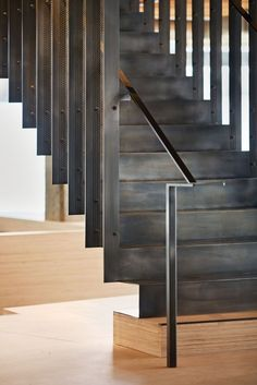 En shalla loves to climb stairs when they shine like this Heavybit Industries / IwamotoScott Architecture