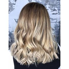 Champagne blended roots + cool toned vanilla color melt