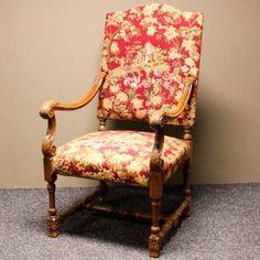 19世紀 の タペストリー アームチェア 19th Century Tapestry Arm Chair