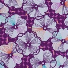 Byzantium+Purple+Floral+Cotton+Print