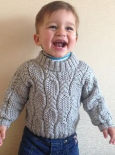 Cable and Seed Stitch Baby Sweater - FREE pattern on site