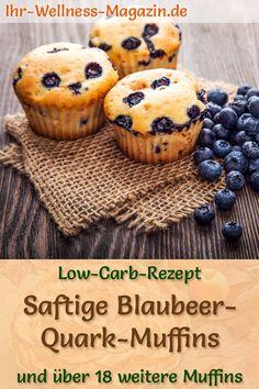 Backen für #Ostern: Saftige Blaubeer-Quark-Muffins ohne Zucker: Einfaches Low-Carb-Rezept für schnelle Muffins mit Blaubeeren, Quark, Mandelmehl, etc. - fruchtig, leicht, gesund, kalorienreduziert und lecker - zaubern den Frühling auf den Tisch - lecker zum Frühstück, Osterbrunch oder Nachmittagskaffee ...