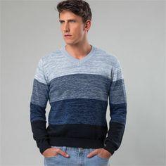 Suéter masculino de tricô