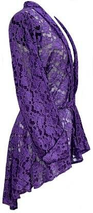 I love the purple lace jacket. Wonder if it comes in my size? The Purple, All Things Purple, Shades Of Purple, Purple Dress, Purple Stuff, Purple Jacket, Raincoat Outfit, Mens Raincoat, Red Hat Society