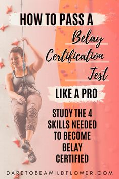 Want to pass a belay certification test? You'll need to demonstrate your ability to perform these 4 essential belay skills. Study up and nail your belay certification test on your first try! Rock Climbing Training, Rock Climbing Workout, Rock Climbing Rope, Rock Climbing Shoes, Alpine Climbing, How To Belay, Climbing Quotes, Climbing Technique, Climbing Backpack