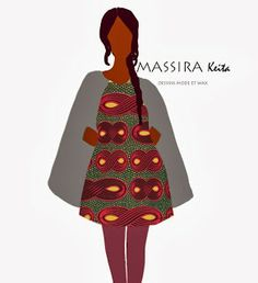 African Prints in Fashion: Print Illustrations by Massira Keita