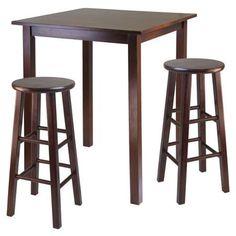 Winsome Parkland 3 Piece Counter Height Pub Table Set - Walmart.com