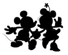 Dancing Mickey and Minnie Mouse Silhouette Vinyl Decal Sticker. 栞 市川 · ミッキー  ミニー シルエット