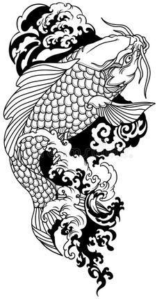 Japanese Koi Fish Tattoo, Koi Fish Drawing, Japanese Tattoo Designs, Japanese Sleeve Tattoos, Pez Koi Tattoo, Koi Tattoo Sleeve, Tattoo Fish, Dragon Koi Tattoo Design, Koi Dragon Tattoo