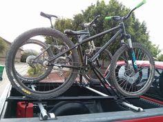 New Mountain Bike Storage Truck Bed 61 Ideas Truck Bed Bike Rack, Diy Bike Rack, Hitch Bike Rack, Bicycle Storage, Soft Toy Storage, Storage Baskets, Diy Makeup Storage, Car Racks, Tonneau Cover