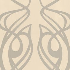 """Graham & Brown Diva Oyster 33' x 20.5"""" Abstract Foiled Wallpaper"""