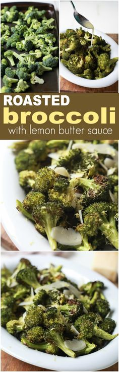 This Roasted Broccoli with Parmesan Lemon Butter Sauce is so EASY it takes 25 minutes and only 5 ingredients! The BEST broccoli you'll ever have! | joyfulhealthyeats.com