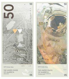 Travis Purrington, un diseñador gráfico de Suiza, decidió rediseñar la moneda estadounidense. Aunque la tarea parecía desalentadora al principio, se las arregló para llegar a un concepto totalmente único y hermoso, ya que tiene un aspecto mucho más moderno y futurista, como el actual diseño de la moneda de Noruega.