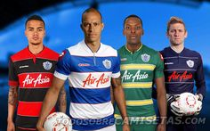 QPR Lotto Kits - Football Shirts The last of Lotto's 5 seasons and finally they come up with tasteful designs. Soccer Kits, Football Kits, Sport Football, Soccer Jerseys, British Football, English Football League, Queens Park Rangers Fc, Rangers Football, Football Fashion