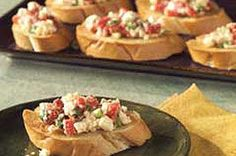 It looks just like your classic bruschetta, but ours, made with red peppers and feta, has a bit more bite.