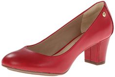hush puppies red high heel