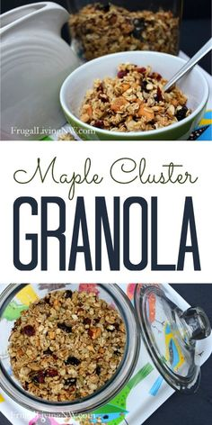 How to make homemade Maple Cluster Granola. Perfect for back-to-school or snacking.