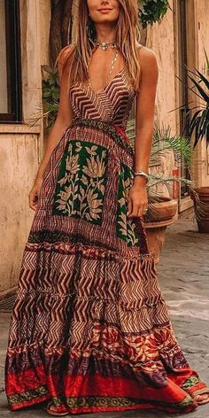 Bohemian Dress Bohemian V Neck Sleeveless Printed Colour DressYou can find Bohemian style and more on our website.Bohemian Dress Bohemian V Neck Sleeveless Printed Colour Dress Dress Outfits, Fashion Outfits, Dress Fashion, Fashion Shorts, Dresses Dresses, Fashion Clothes, Stylish Outfits, Dresses Online, Boho Outfits