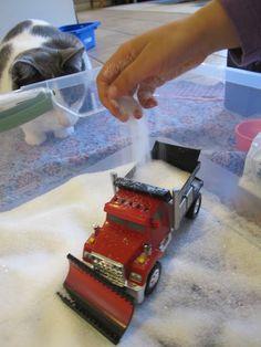 Sensory Story Box - Katy and the Big Snow - swap out Epsom salt for regular salt