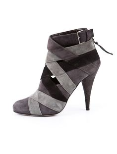 Miu Miu Striped Bootie: Now these I LOVE with the varied grays, and they look totally wearable!!
