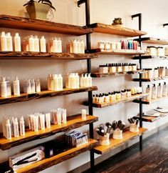 retail barnwood displays with rusted metal - Google Search