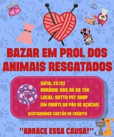 Bazar irá arrecadar fundos para animais resgatados em Botucatu -   Nopróximo sábado, dia 25, será realizado um bazar em prol dos animais resgatados em Botucatu. O local do evento será aloja Sutto Pet Shop, em frente ao Pão de Açúcar, na Avenida Vital Brasil.  O horário do bazar será das 9h00 às 1300. Serão comercializados diversos produtos que foram - http://acontecebotucatu.com.br/geral/bazar-ira-arrecadar-fundos-para-animais-resgatados-em-botucatu/