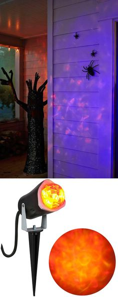 enhance your halloween decorating with an eerie swirling light show this outdoor projection shines bright special lighting honor dlm