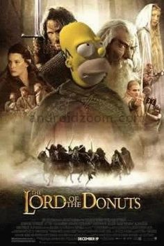 Homer is LORD OF THE DONUTS!  The Simpsons #simpsons