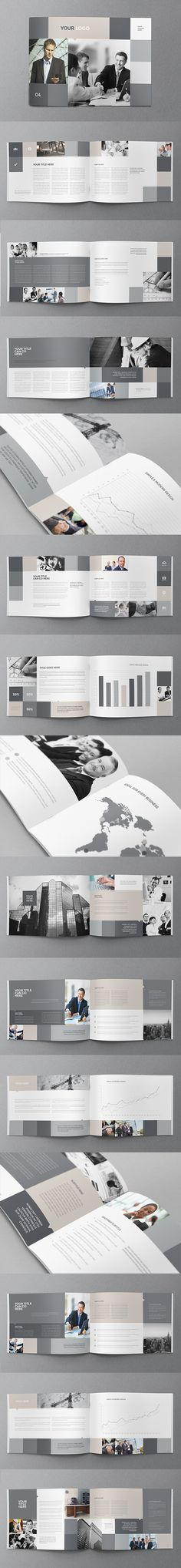 Simple Business Grey Brochure. Download here: http://graphicriver.net/item/simple-business-grey-brochure/11682709?ref=abradesign #brochure #design