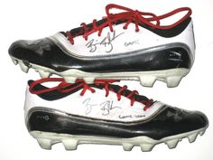 Brian Blechen Utah Utes Game Worn & Signed Under Armour Blur Cleats (Worn For Several Games Including Huge Hit on Michigan Wolverines WR Devin Funchess!!!)