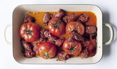 Roasted Tomato and Chorizo A delicious combination of sausages and tomatoes, their juices mingled in the oven. Quick Simple Midweek meal.