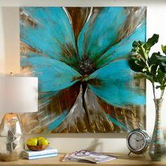 Bright Blue Flower Canvas Art Print | Kirklands