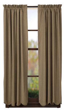 """Providence Scalloped Lined Short Panel Curtains 63"""""""