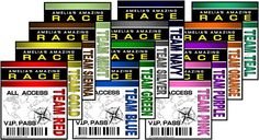 Amazing Race party supplies and invitations! with more team options