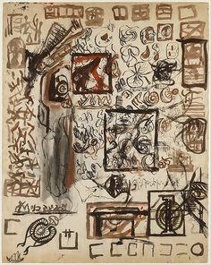 Untitled (Sheet of Studies) - Jackson Pollock, 1939-42