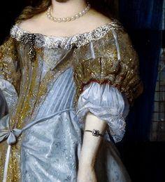 Portrait of a Lady (Détail) Gabriel Metsu 17th Century Clothing, 17th Century Fashion, 18th Century, Historical Costume, Historical Clothing, Baroque Fashion, Vintage Fashion, Fashion History, Fashion Art
