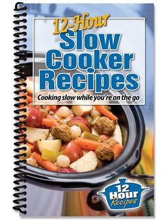 Cooking Slow While Your On the Go! Finally... practical, simple and delicious recipes that have a slow cooking time of 10 to 12 hours! Most other slow cooker recipes have a maximum cook time of 8 hour
