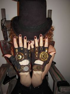 Like. Like. Like!  Steampunk Gloves by ~Moonhoar on deviantART