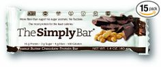 SimplyProtein Bar, Peanut Butter Chocolate, Pack of Gluten Free, Non GMO, Vegan Chocolate Protein Bars, Chocolate Peanut Butter, Protein Snacks, Healthy Snacks, Gourmet Recipes, Snack Recipes, Gain Muscle Fast, Sports Nutrition, Yummy Snacks