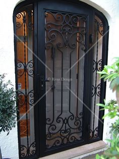 Our wrought iron security doors are elegant hand-forged features that complement your style and the architecture of your home.