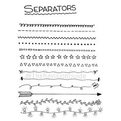 separators for sketchnotes... therevisionguide