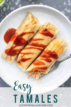 Make Easy Tamales this week right in your own kitchen - they're so much simpler than you'd think! Fill them with pork, veggies, chicken, or cheese! Corn Tamales, Beef Tamales, Homemade Tamales, Raw Food Recipes, Pork Recipes, Cooking Recipes, Cooking Tips, Freezer Recipes, Freezer Cooking