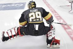 LAS VEGAS, NV - MARCH 28: Marc-Andre Fleury #29 of the Vegas Golden Knights warms up prior to the game against the Arizona Coyotes at T-Mobile Arena on March 28, 2018 in Las Vegas, Nevada. (Photo by David Becker/NHLI via Getty Images)