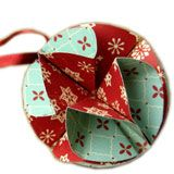 Great tutorial to make a christmas ornament without luxurious tools. Could make those from wrapping paper!