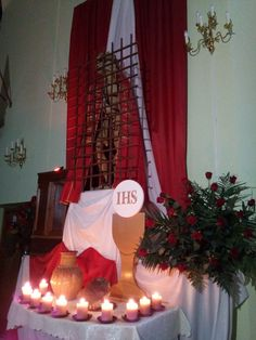 Amen, Christmas Crafts, Table Decorations, Furniture, Ideas, Home Decor, Lent, Fiesta Party, Altars
