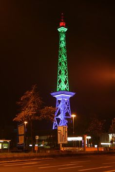Funkturm, Berlin West - Also See Other Beautiful pictures via: Berlin Festival of Lights